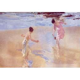 Sir William Russell Flint limited edition 'The Beach Game'