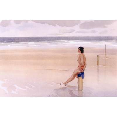 Sir William Russell Flint limited edition print 'Halcyon Days'