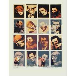 "Sir Eduardo Paolozzi RA signed screen print ""Hollywood Faces"""