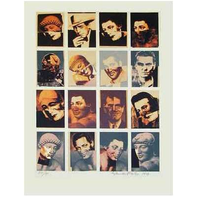 "Sir Eduardo Paolozzi RA signed screen print ""Hollywood Faces"""