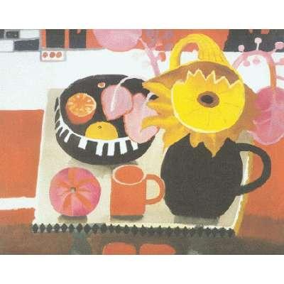 "Mary Fedden RA limited edition print ""The Orange Mug (1996)"""