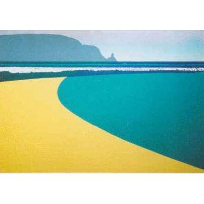 Robert Tilling RI silkscreen print 'Plemont'