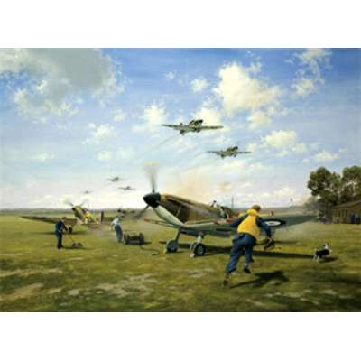 """Gerald Coulson signed limited edition print """"Scramble"""""""