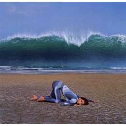 "Storm Thorgerson 20 colour silkscreen ""Wave (Deepest Blue)"""