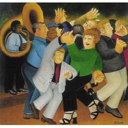 """Beryl Cook colour reproduction giclée print """"Jiving to Jazz"""""""