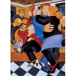 Beryl Cook colour reproduction giclee print 'Shall We Dance?'