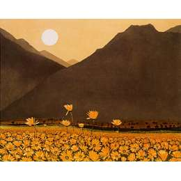 limited edition etching 'Marigold Mountain'