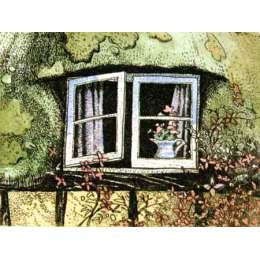 "Simon Bull hand coloured Etching ""Ann's Cottage"""