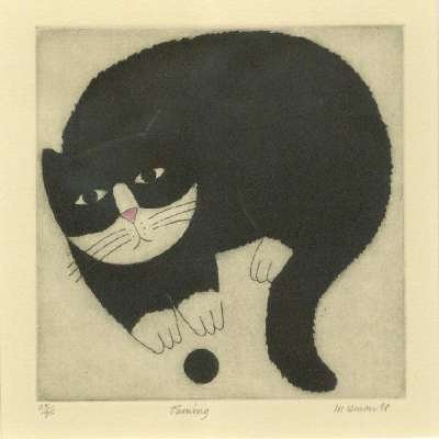 """Martin Leman limited edition etching """"Turning"""""""