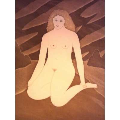 Martin Leman limited edition etching 'Sandy Strip'