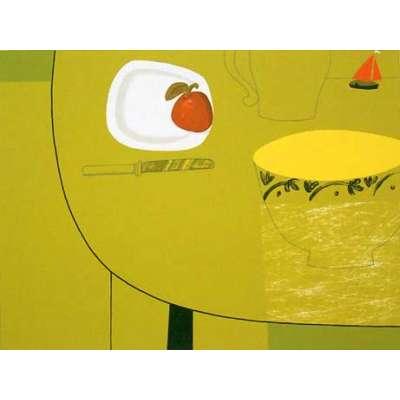 """Geoffrey Robinson screenprint """"Dream Boat"""""""