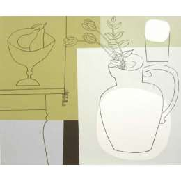"Geoffrey Robinson screenprint ""On Two Tables"""