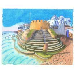 "Ian Rolls giclee print ""Havre des Pas Bathing Pool"""