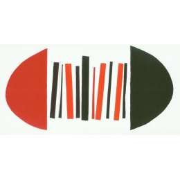 "Sir Terry Frost screen print ""Red,Black & White"""