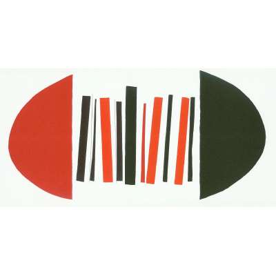 """Sir Terry Frost screen print """"Red,Black & White"""""""