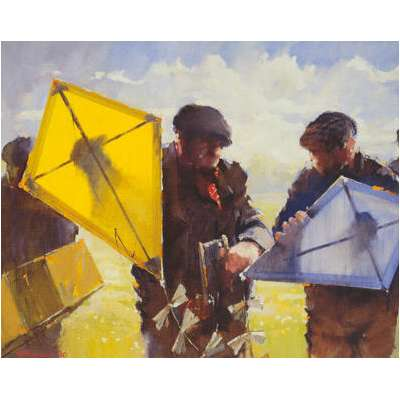 "Lawrie Williamson Giclée print ""Flying Kites"""