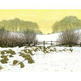 "Kenneth Leech screenprint ""Winter Walk"""