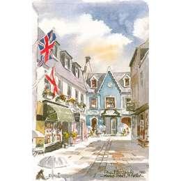 Martin Goode 'Market Street, Jersey