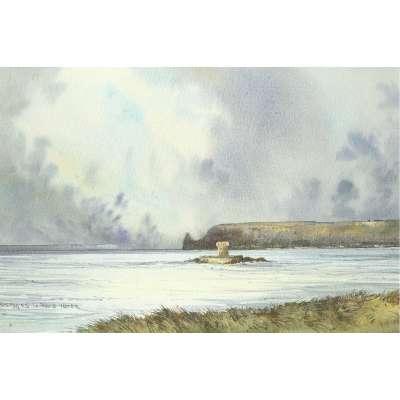 """John Freeman watercolour """"St Ouen's Bay, Jersey"""""""