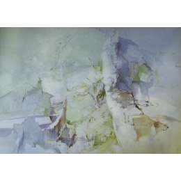 "Frederick Sands water colour ""Col de Larche, Italy"""
