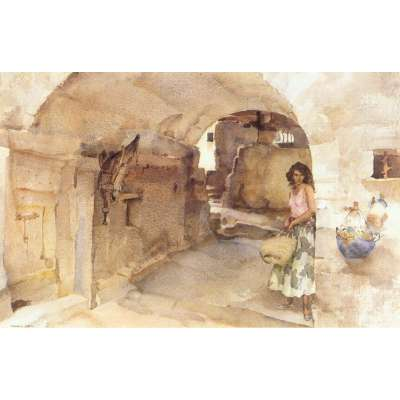 Sir William Russell Flint limited edition 'Antoinette's Alley'