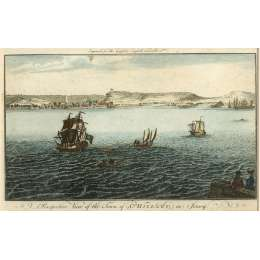 Coloured Engraving by J.Hogg 'The Town of St Helier'