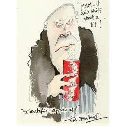 Tim Bulmer original watercolour 'scientific Appraisal!'