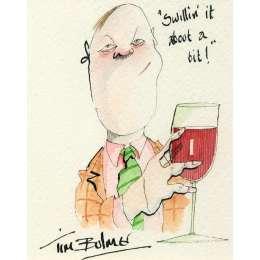 Tim Bulmer original watercolour 'Swillin' it about a bit'