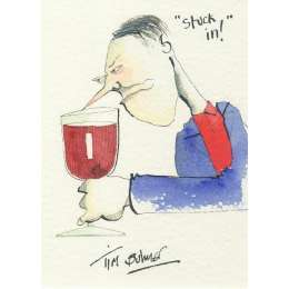 Tim Bulmer original watercolour 'Stuck in!'