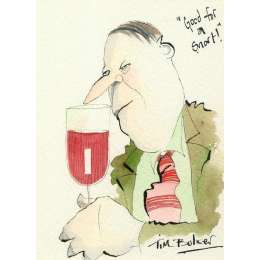 Tim Bulmer original watercolour 'Good for a Snort!'