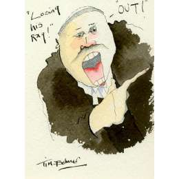 Tim Bulmer original watercolour 'Losing his rag!'