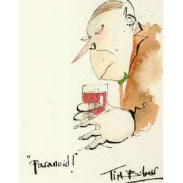 Tim Bulmer original watercolour 'Paranoid!'