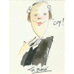Tim Bulmer original watercolour 'Coy!'