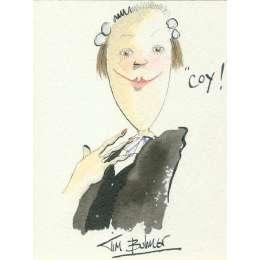 Tim Bulmer original watercolour 'Coy!'