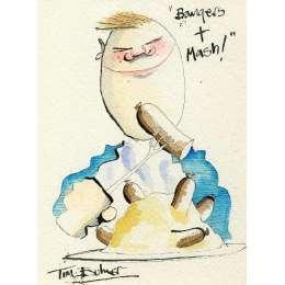 Tim Bulmer original watercolour 'Bangers & Mash!'