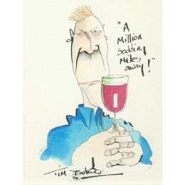 Tim Bulmer original watercolour 'A million sodding miles away'