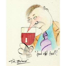Tim Bulmer original watercolour 'Good Old Snort!'