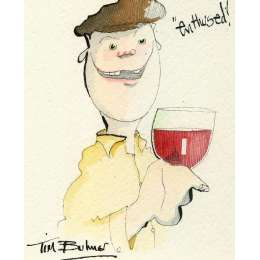 Tim Bulmer original watercolour 'Enthused!'