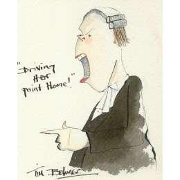 Tim Bulmer original watercolour 'Driving Home Her Point!'
