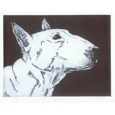 """Sonia Rollo signed limited edition etching """"Profile of Queenie"""""""