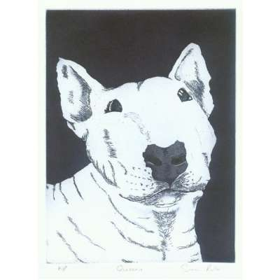 "Sonia Rollo signed limited edition etching ""Queenie"""