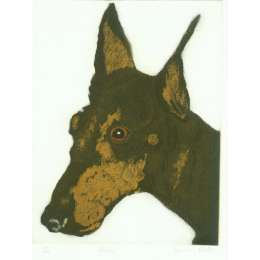 "Sonia Rollo signed limited edition etching ""Doris"""