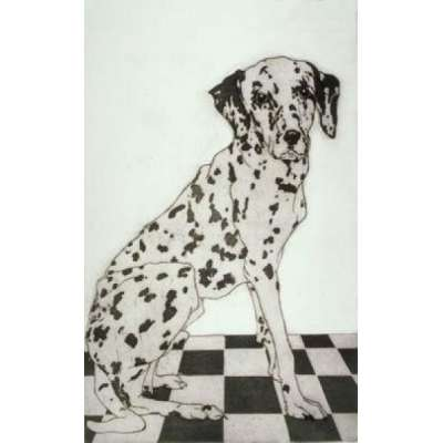"Sonia Rollo signed limited edition etching ""Spot the Dog"""