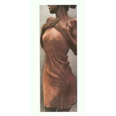 Willi Kissmer original etching 'Im Roten Kleid'