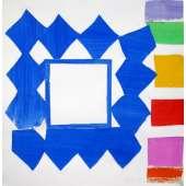 Sandra Blow RA original painting 'Blue Diamonds'