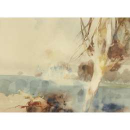 "Frederick Sands water colour ""Chateau Chaumont on the Loire"""