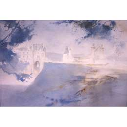 "Frederick Sands water colour ""Chateau Chenonceaux"""