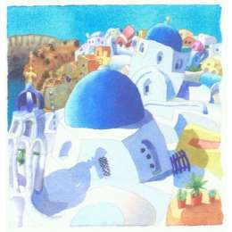 Ian Rolls limited edition giclee print 'Blue Domes'