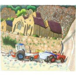 Ian Rolls limited edition giclee print 'St Brelade's church'