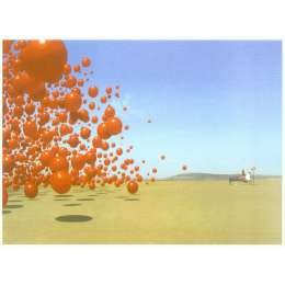 """Storm Thorgerson silkscreen """"Wake up and smell the coffee"""""""
